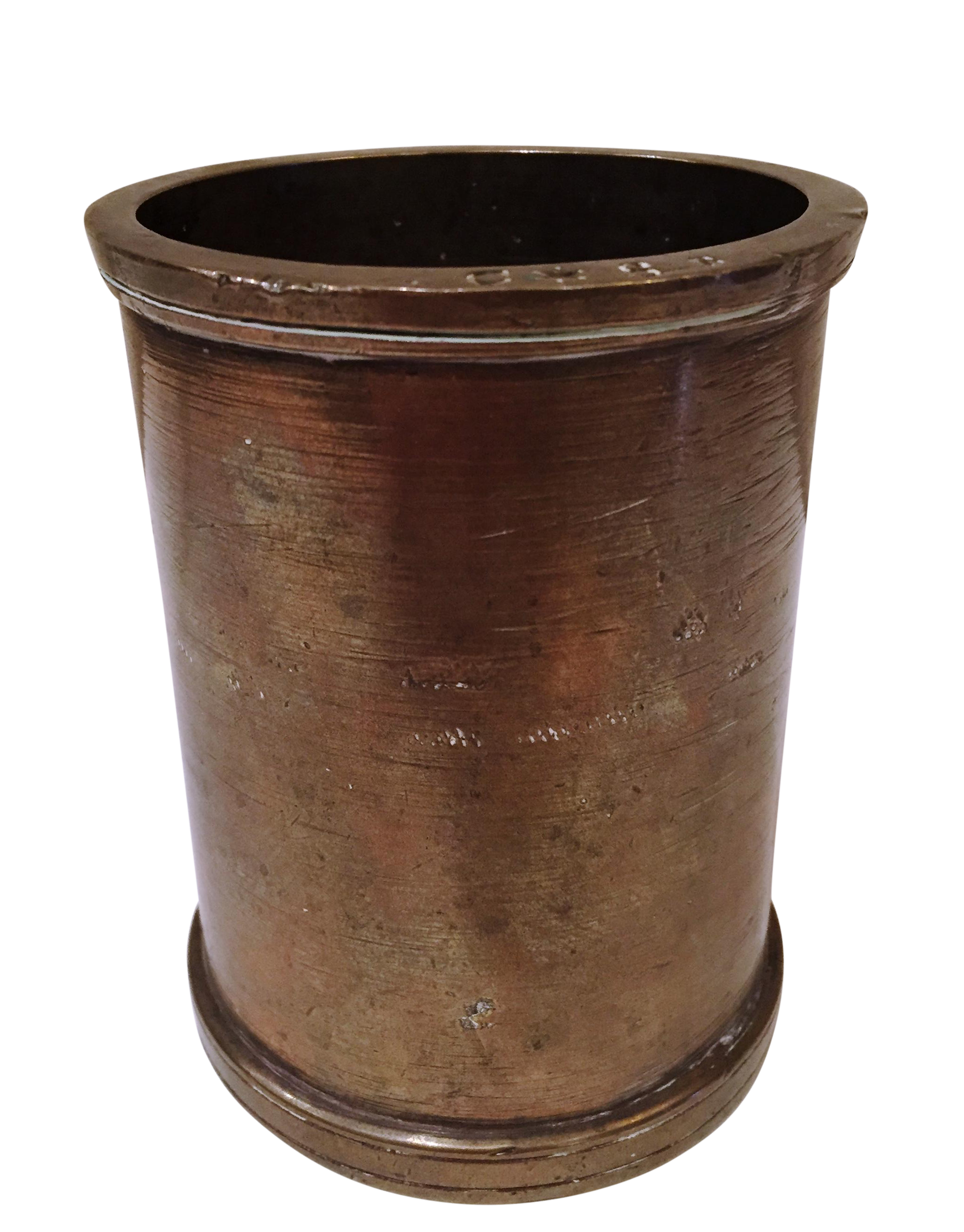 Heavy brass or bronze cylinder chairish for Sofa global 6450