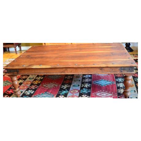 Wood Coffee Table With Nailhead Trim Chairish