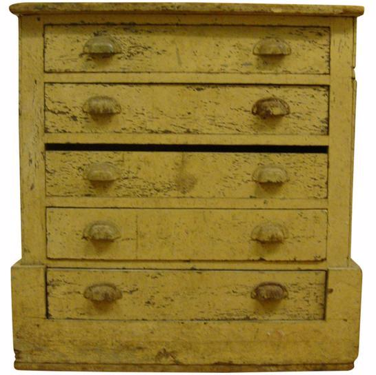 Chippy Farmhouse Five Drawer Chest Chairish