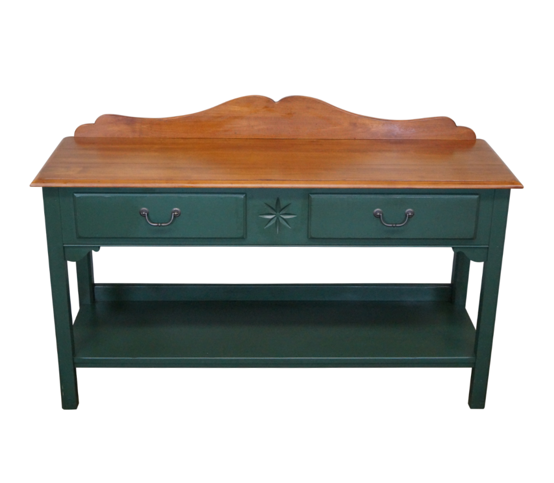 ethan allen country crossings console table | chairish