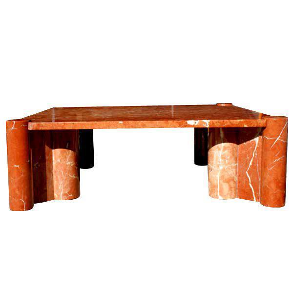 Knoll Marble Coffee Table: Knoll Gae Aulenti Jumbo Marble Coffee Table