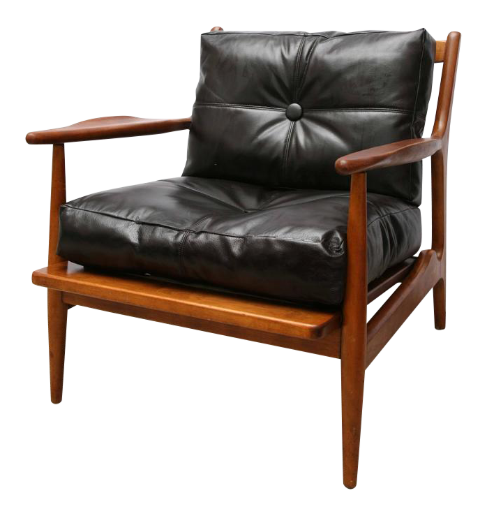 Superior Teak Chair by Conant Ball 1950s USA DECASO
