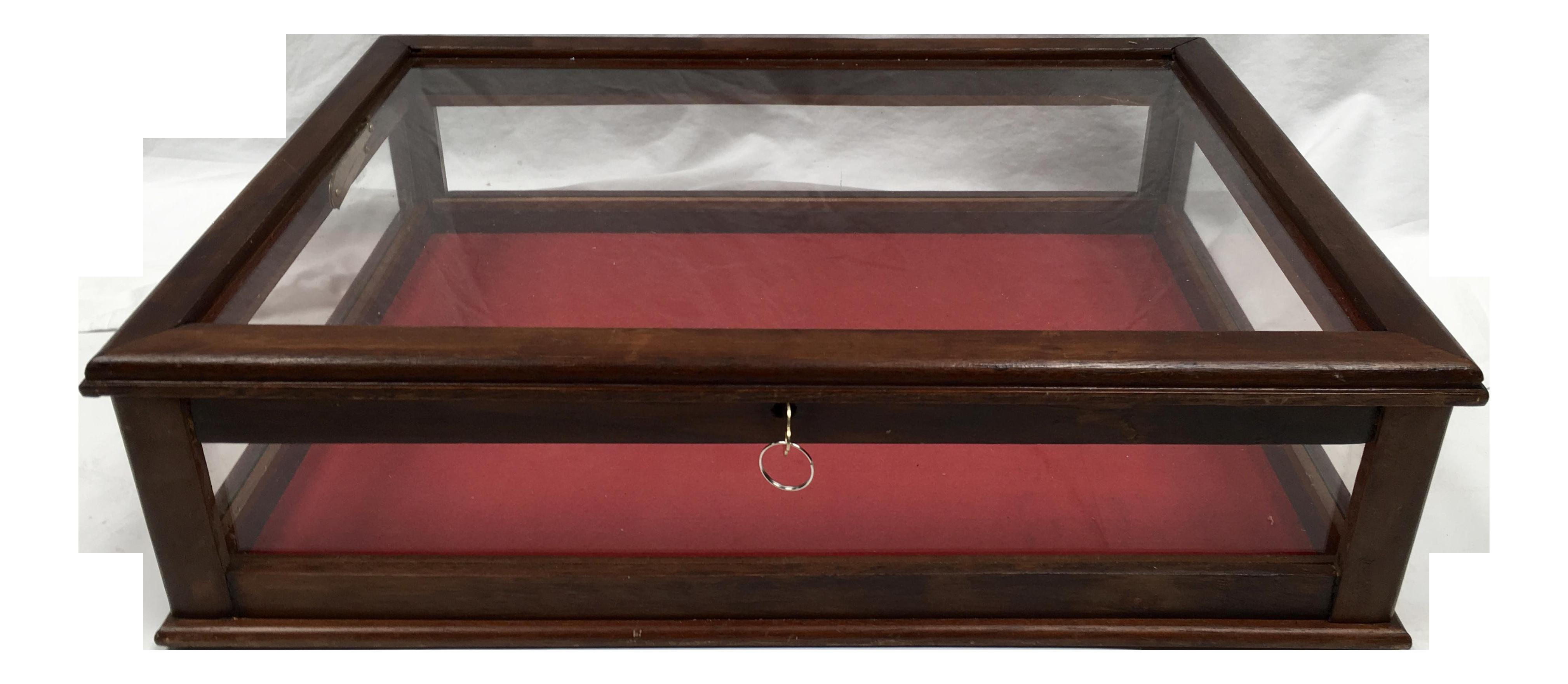Vintage Mahogany Amp Glass Tabletop Display Case Chairish