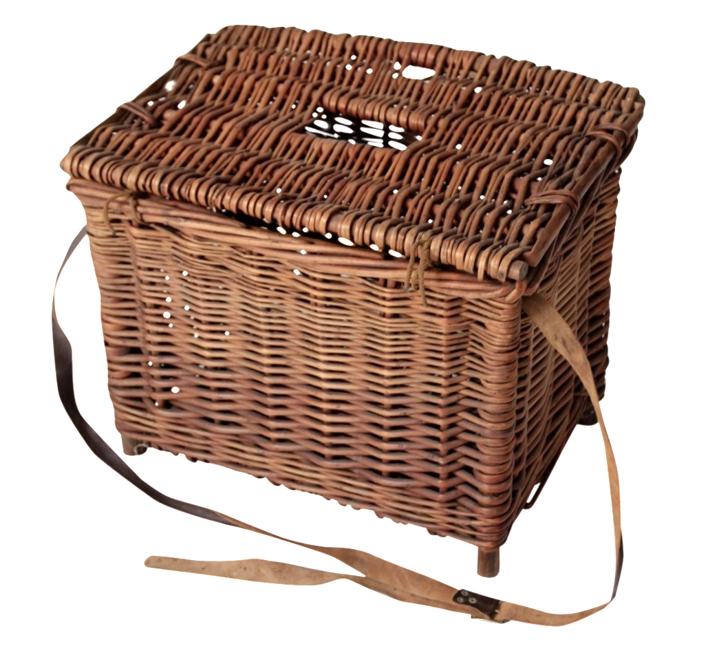 Antique Wicker Fishing Basket Chairish
