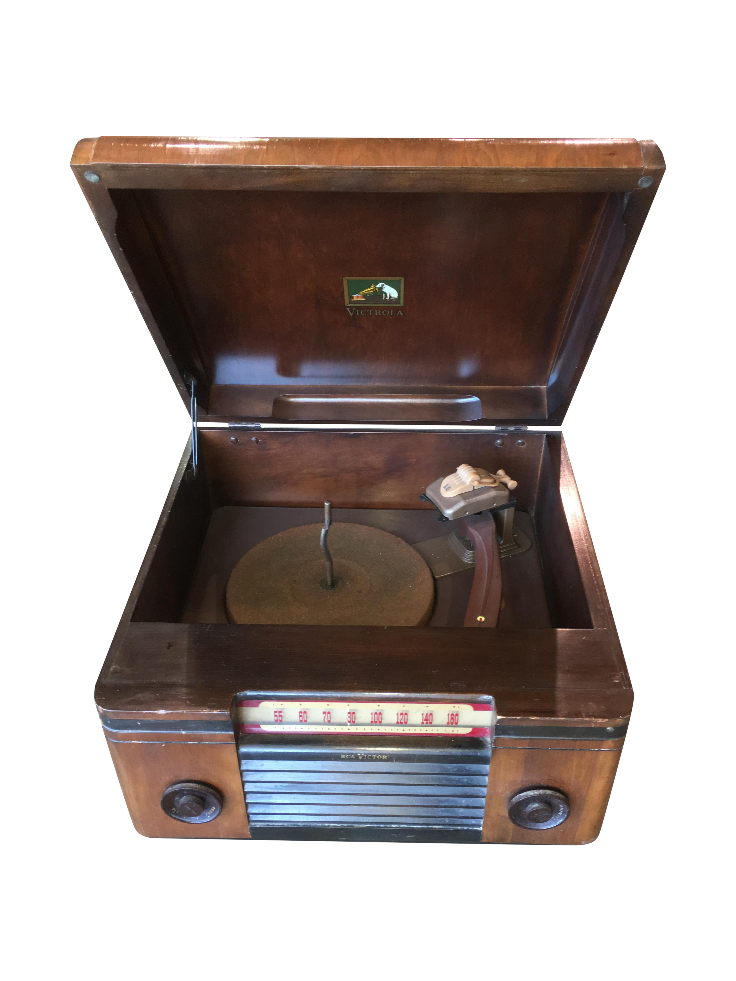 1940 S Rca Victor Victrola Radio Record Player Chairish