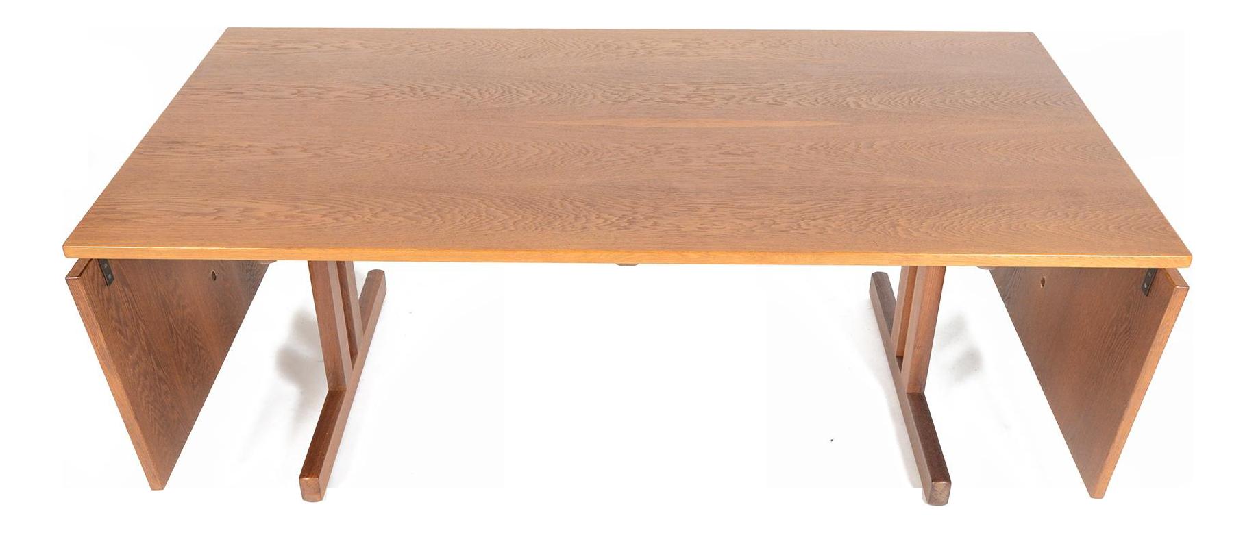 oak drop leaf craftsman style dining table chairish. Black Bedroom Furniture Sets. Home Design Ideas