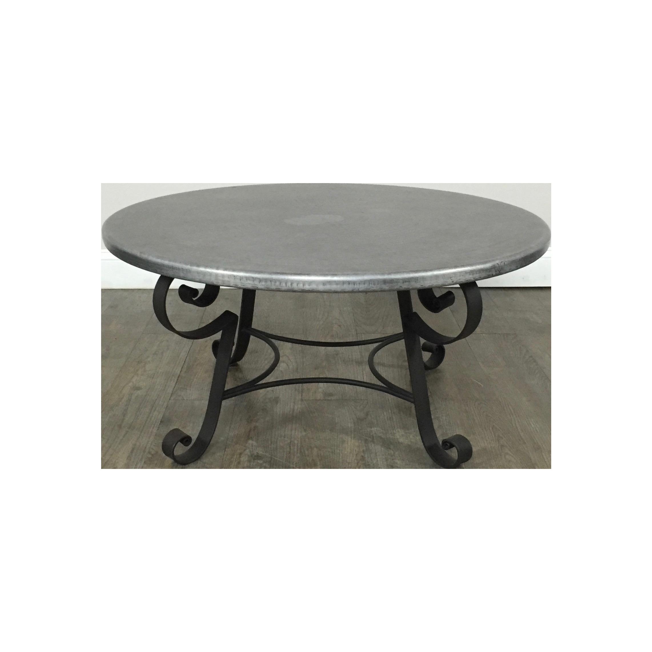 Zinc Top Coffee Table by Arhaus