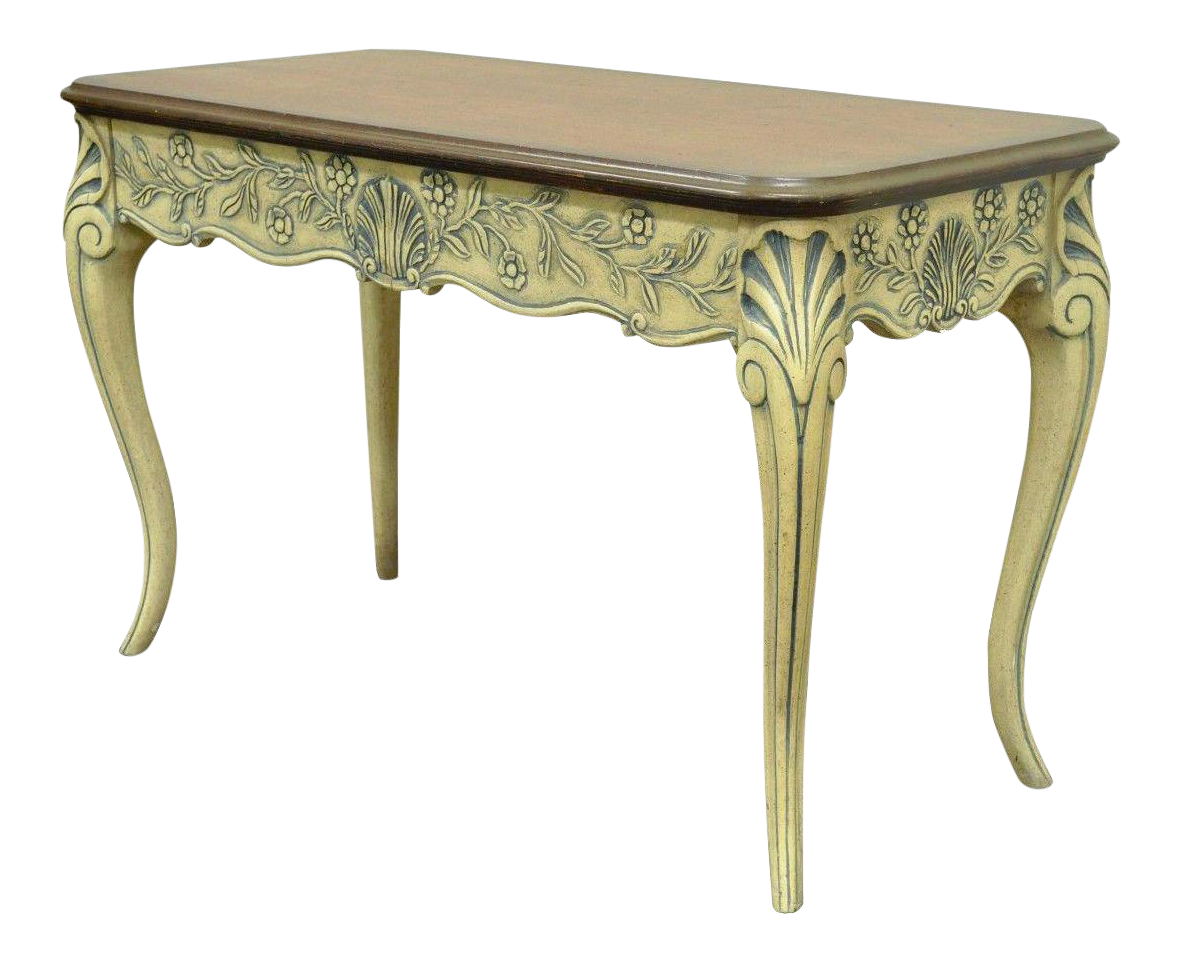 Vintage used console tables chairish vintage louis xv french country style 2 drawer console table geotapseo Image collections