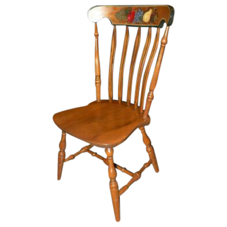 Vintage S Bent Bros Stenciled Maple Side Chair Chairish