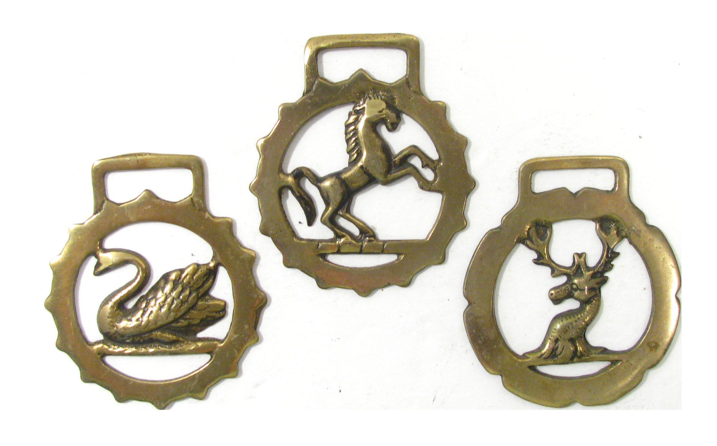 Vintage English Horse Brasses Set Of 3 Chairish