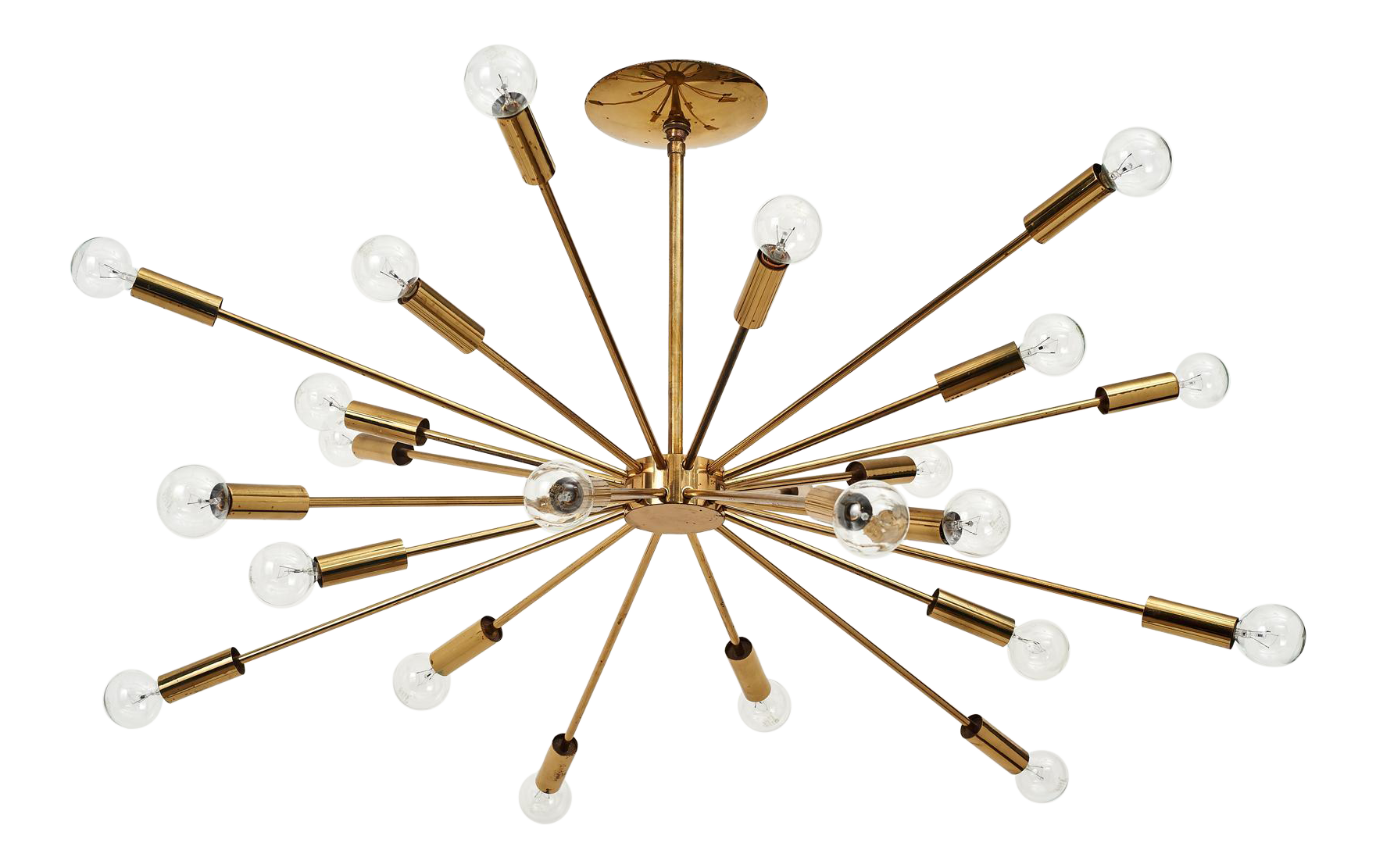 superb gino sarfatti 24 light brass 39 sputnik 39 chandelier. Black Bedroom Furniture Sets. Home Design Ideas