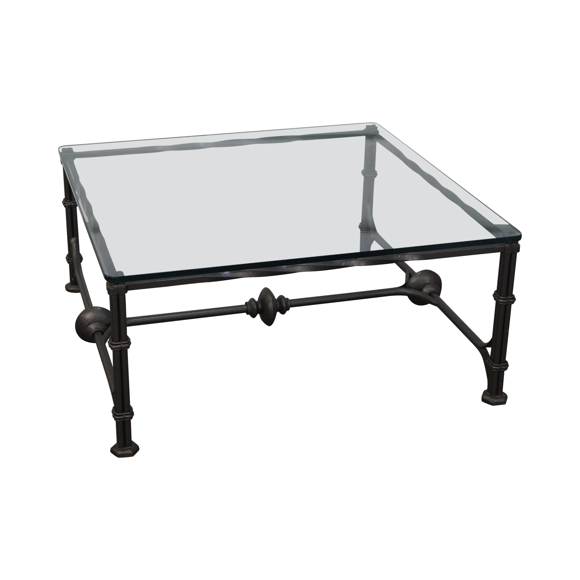 Wrought iron gothic influenced coffee table chairish geotapseo Images