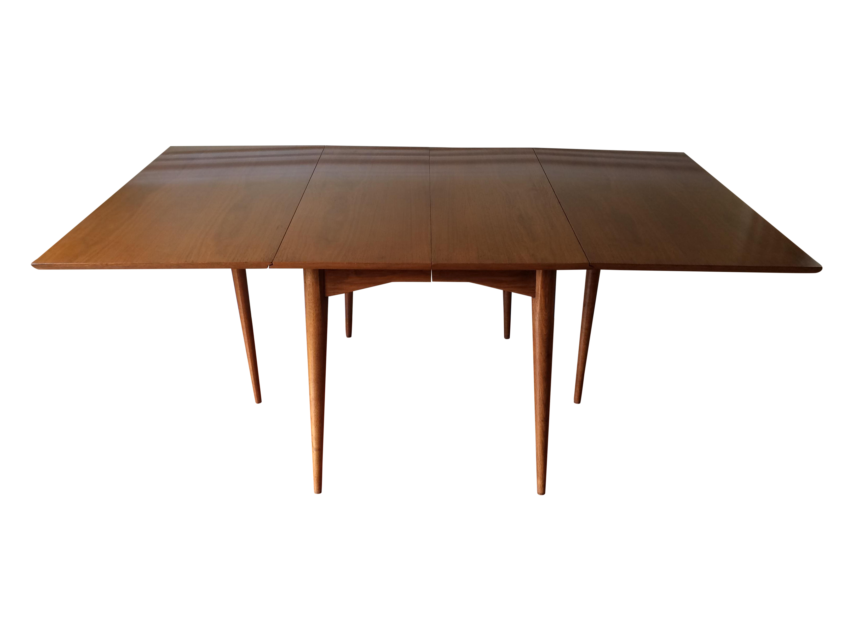 mid century expandable drop leaf dining table chairish