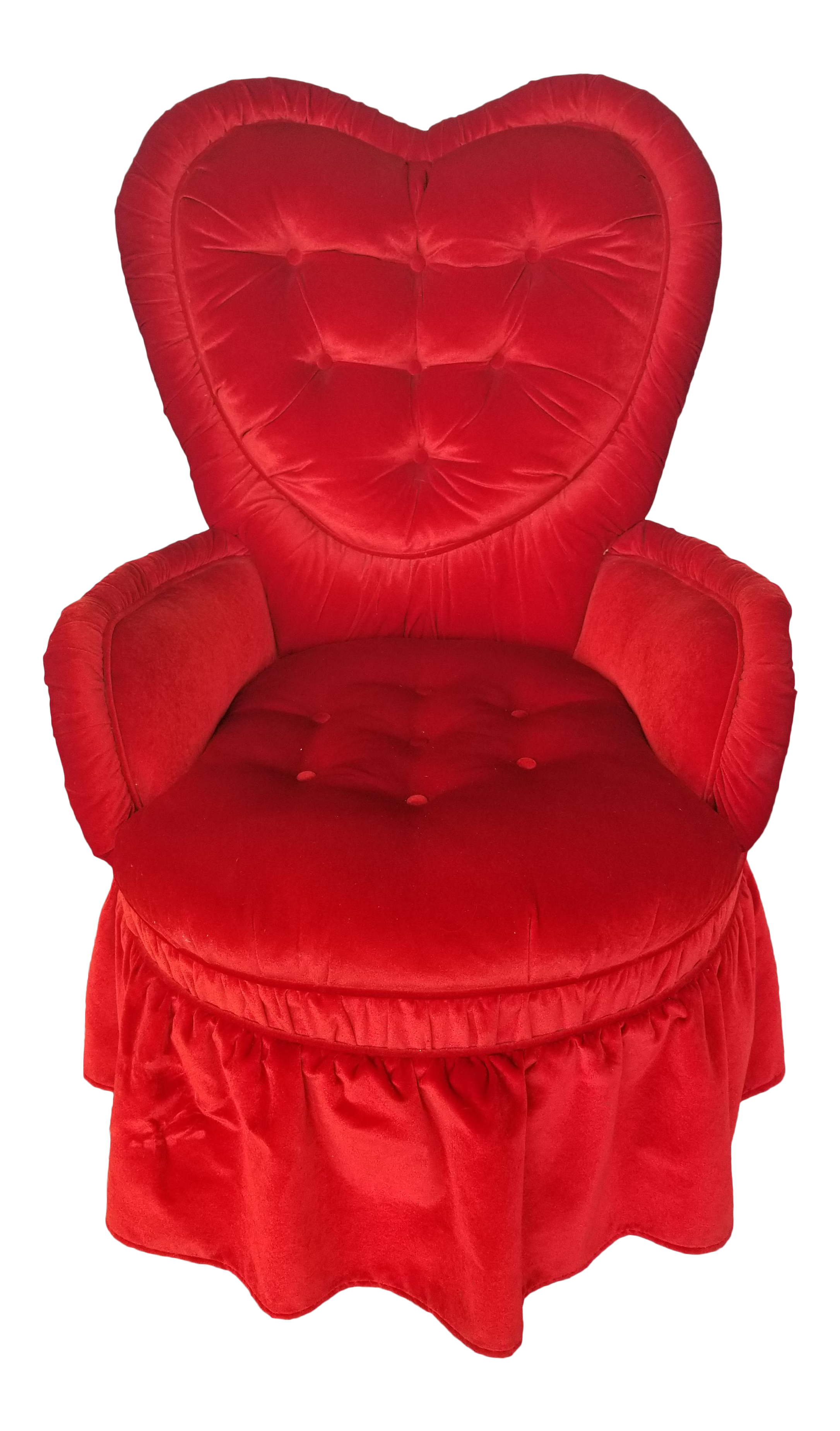 Vintage Heart Shaped Red Boudoir Chair Chairish