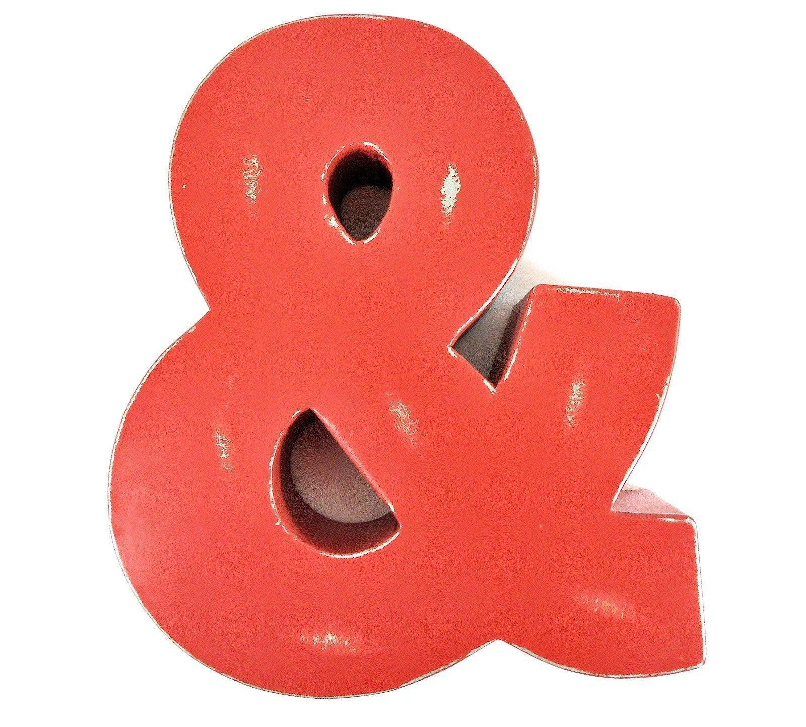 Industrial metal ampersand wall art chairish for Ampersand chicago