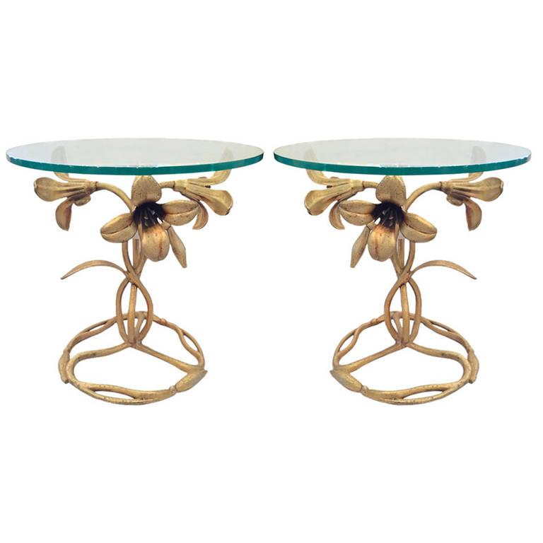 Arthur Court Quot Lilly Quot Side Tables A Pair Chairish