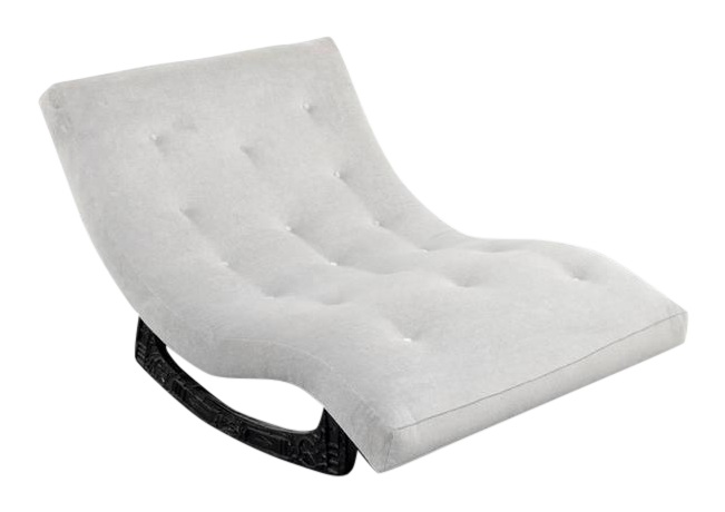 lovely adrian pearsall brutalist rocking lounge chaise. Black Bedroom Furniture Sets. Home Design Ideas