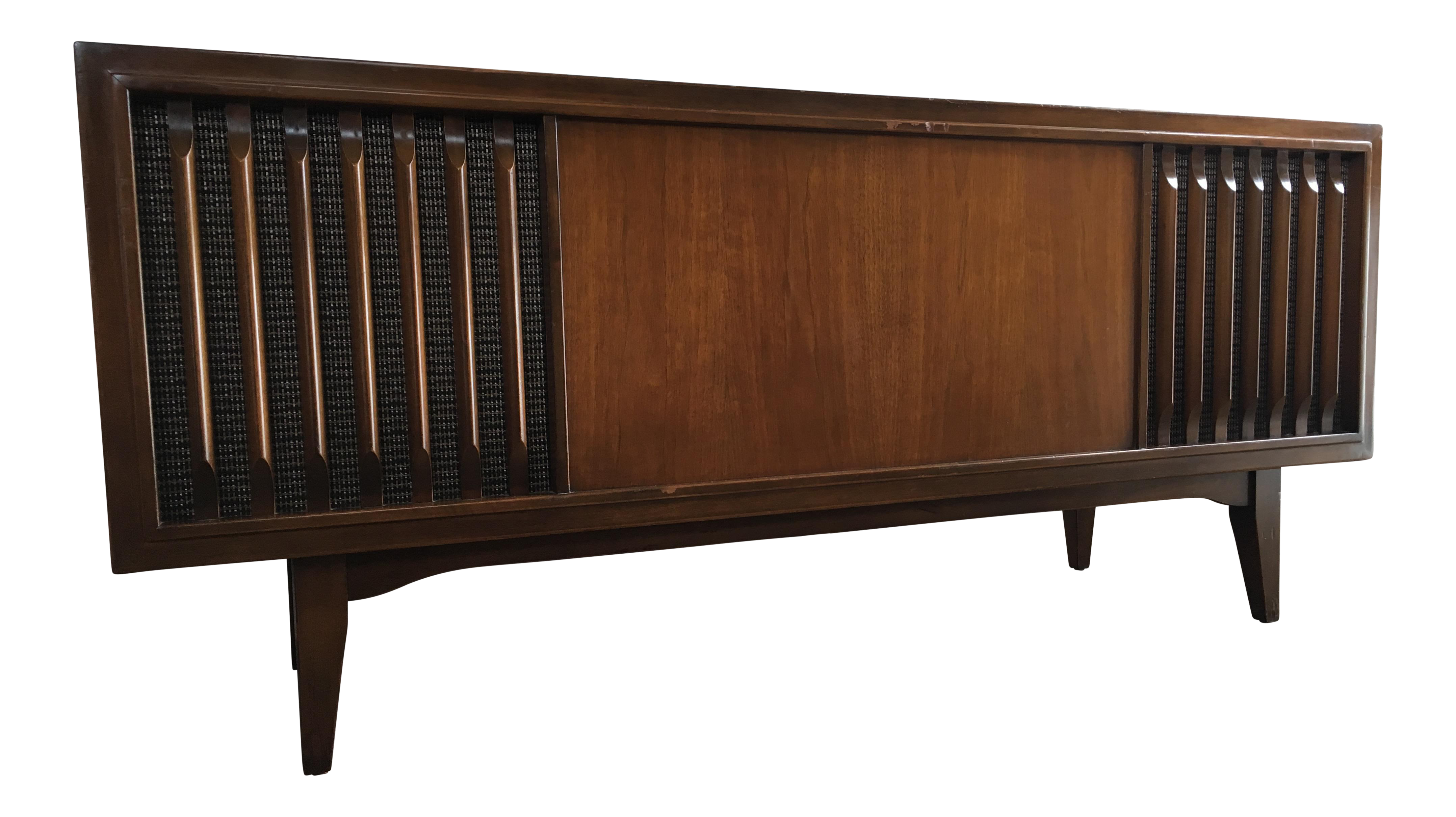 Vintage mid century modern zenith record player console for Zenith sofa table
