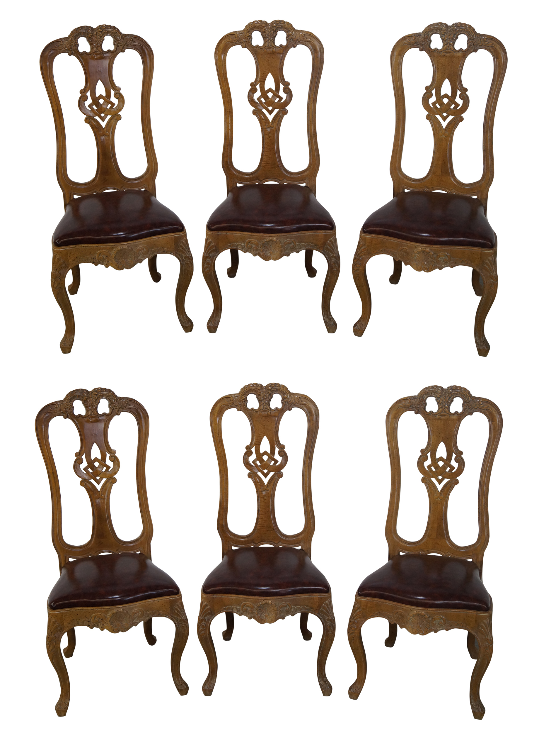 French Style Carved Dining Chairs Set of 6 Chairish : french style carved dining chairs set of 6 7467 from www.chairish.com size 1840 x 2534 png 2612kB