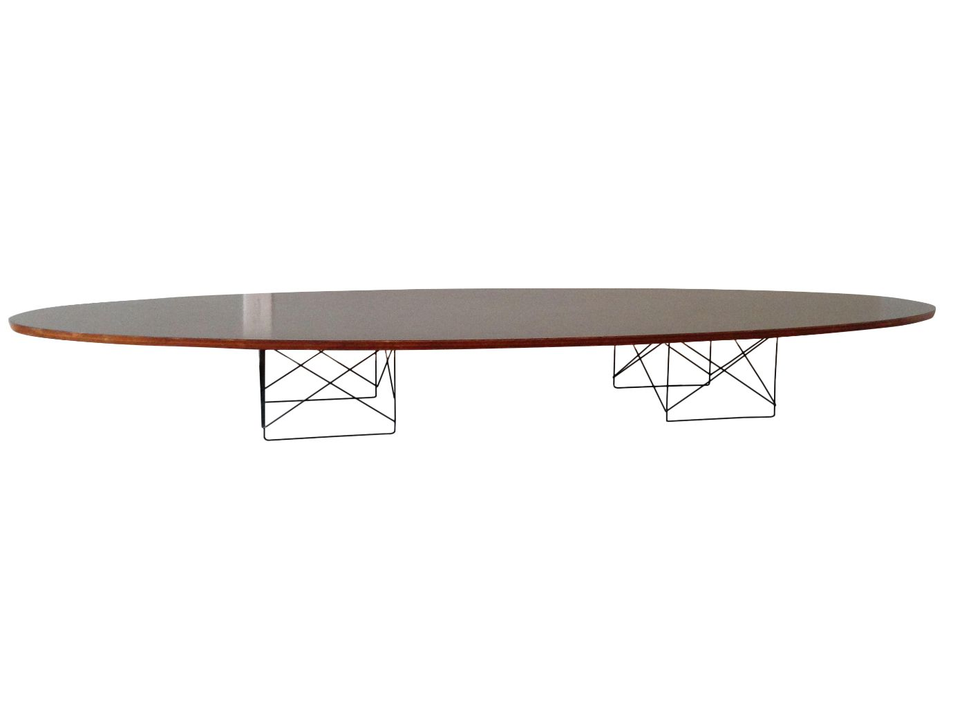 eames elliptical coffee table early design chairish. Black Bedroom Furniture Sets. Home Design Ideas