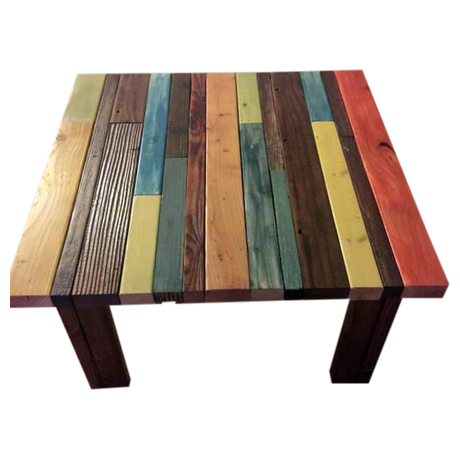 Reclaimed plank wood coffee table chairish for Wood plank top coffee table