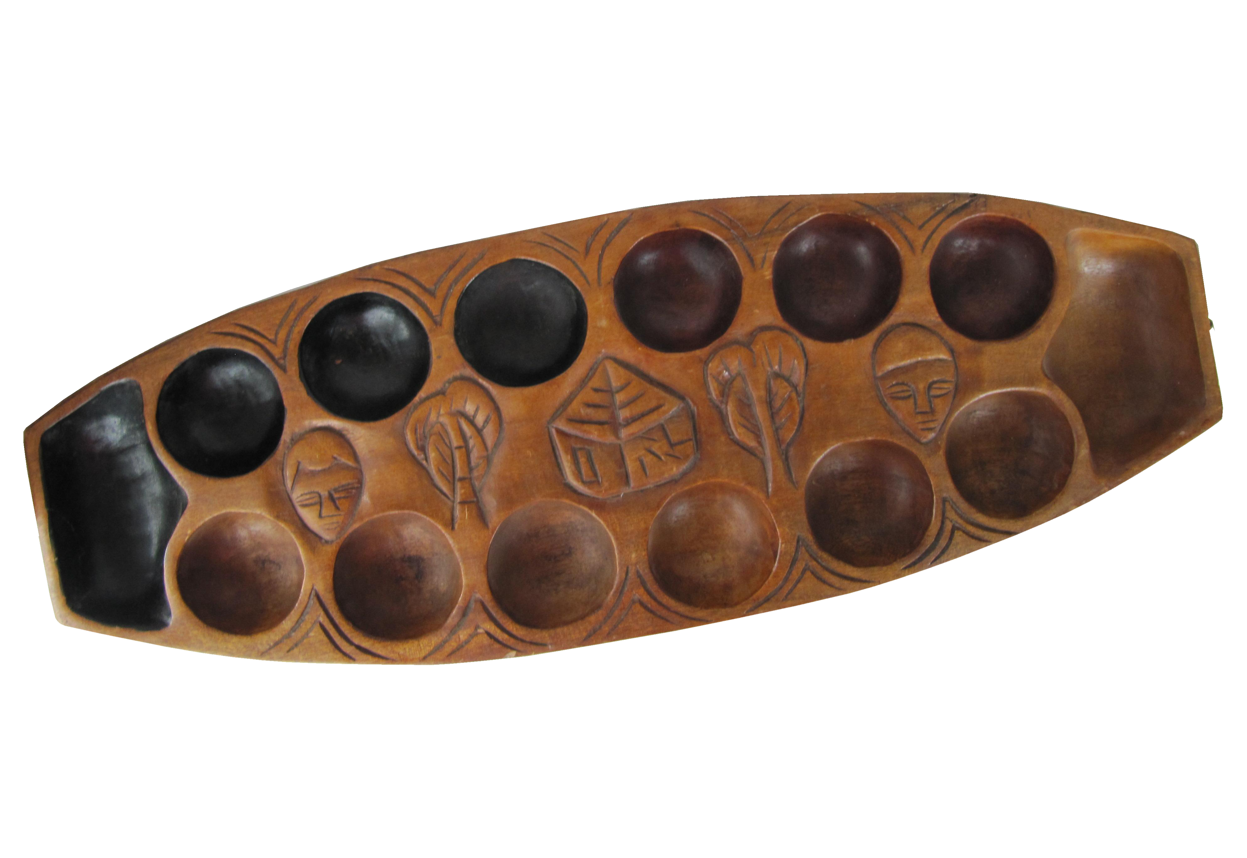 Vintage African Carved Mancala Game Board Chairish