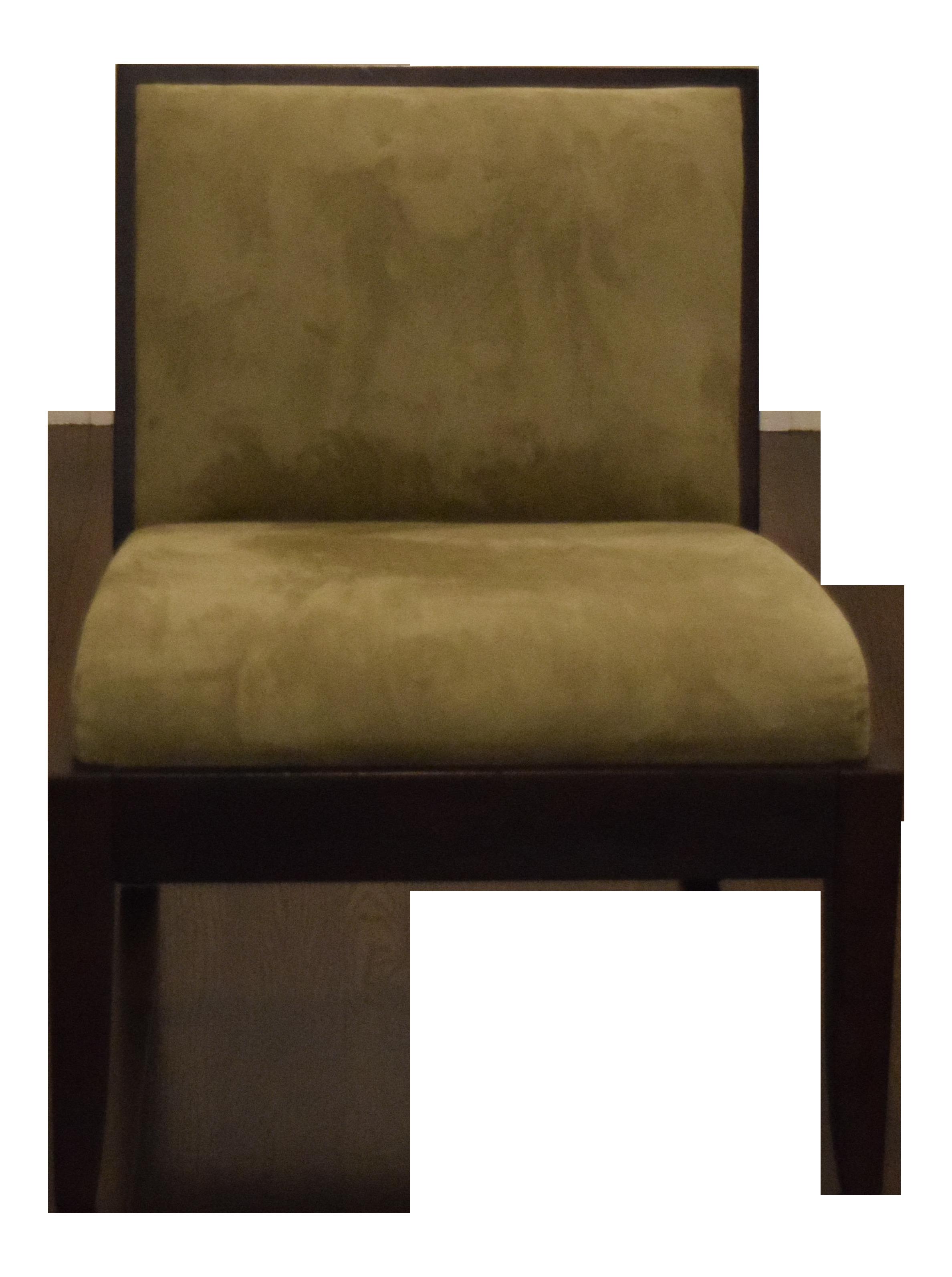 Crate Barrel Olive Green Slipper Chair Chairish