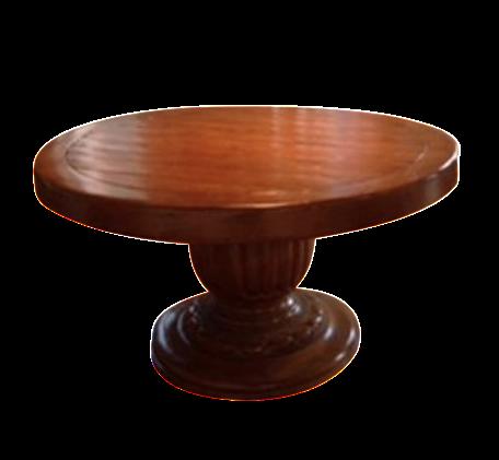 Bausman Round Table With Pineapple Base Chairish