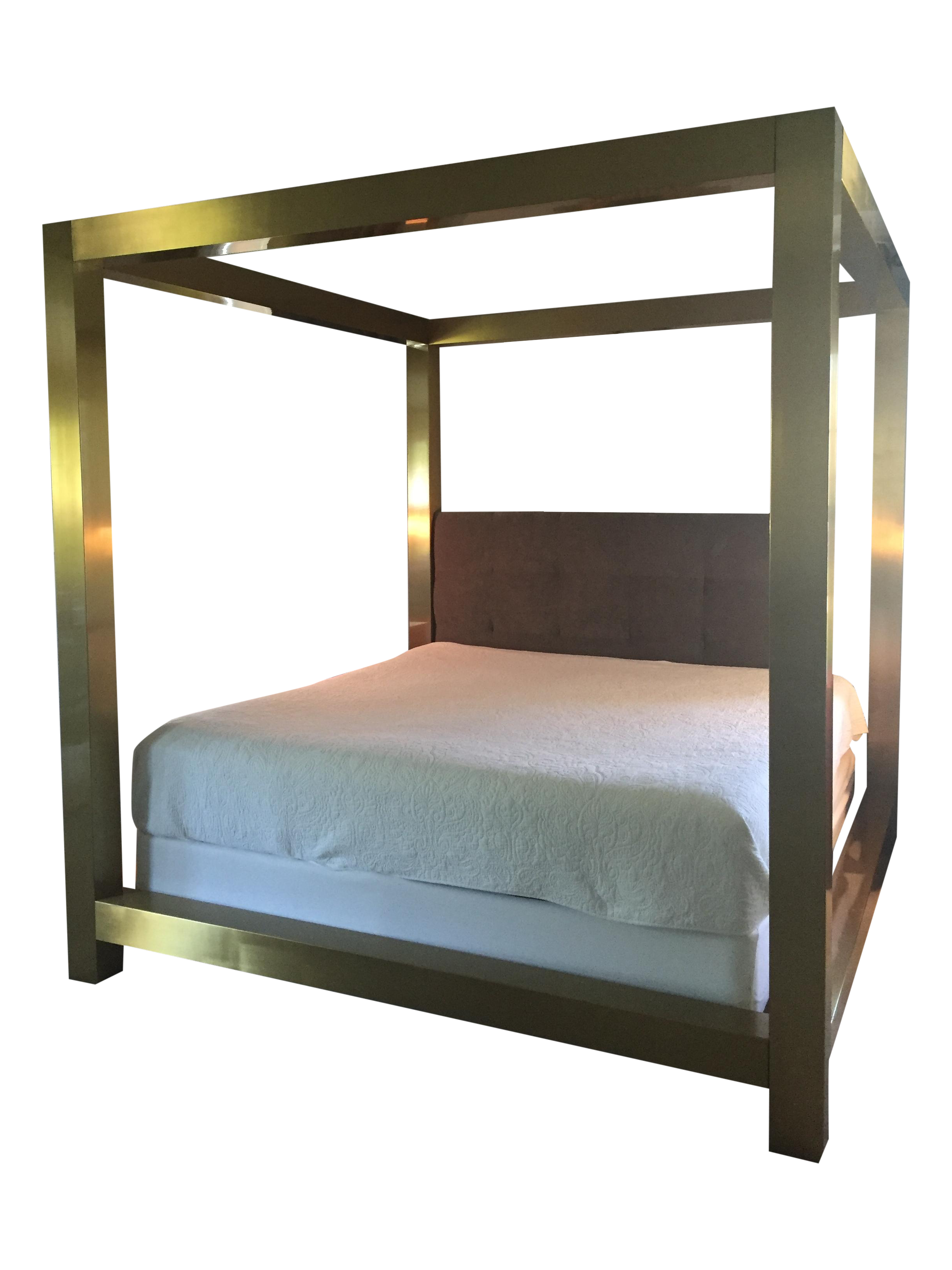 Used Canopy Bed bernhardt kensington metal canopy bed | chairish