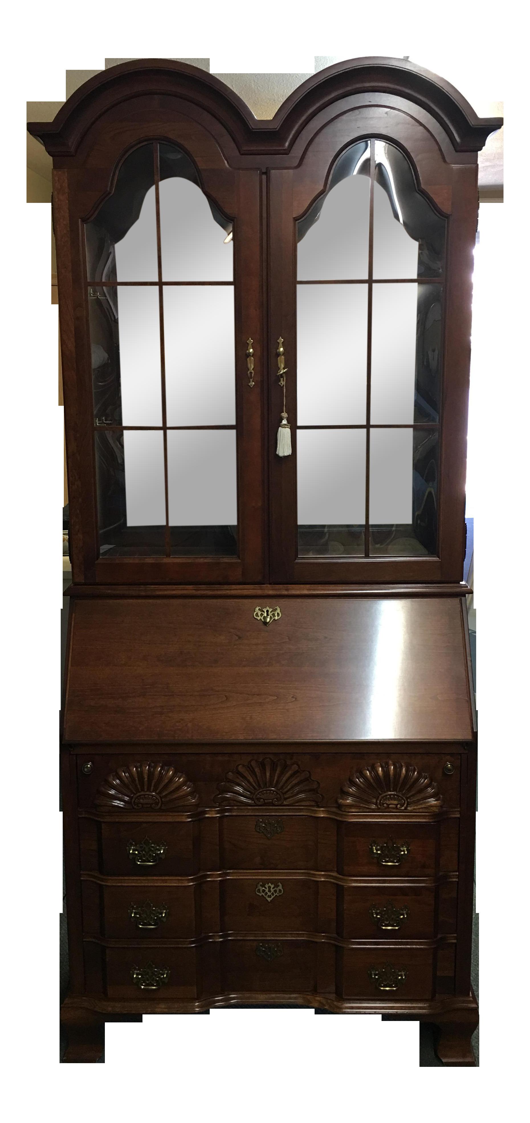 Jasper Cabinet Co. Chippendale Style Secretary Desk | Chairish