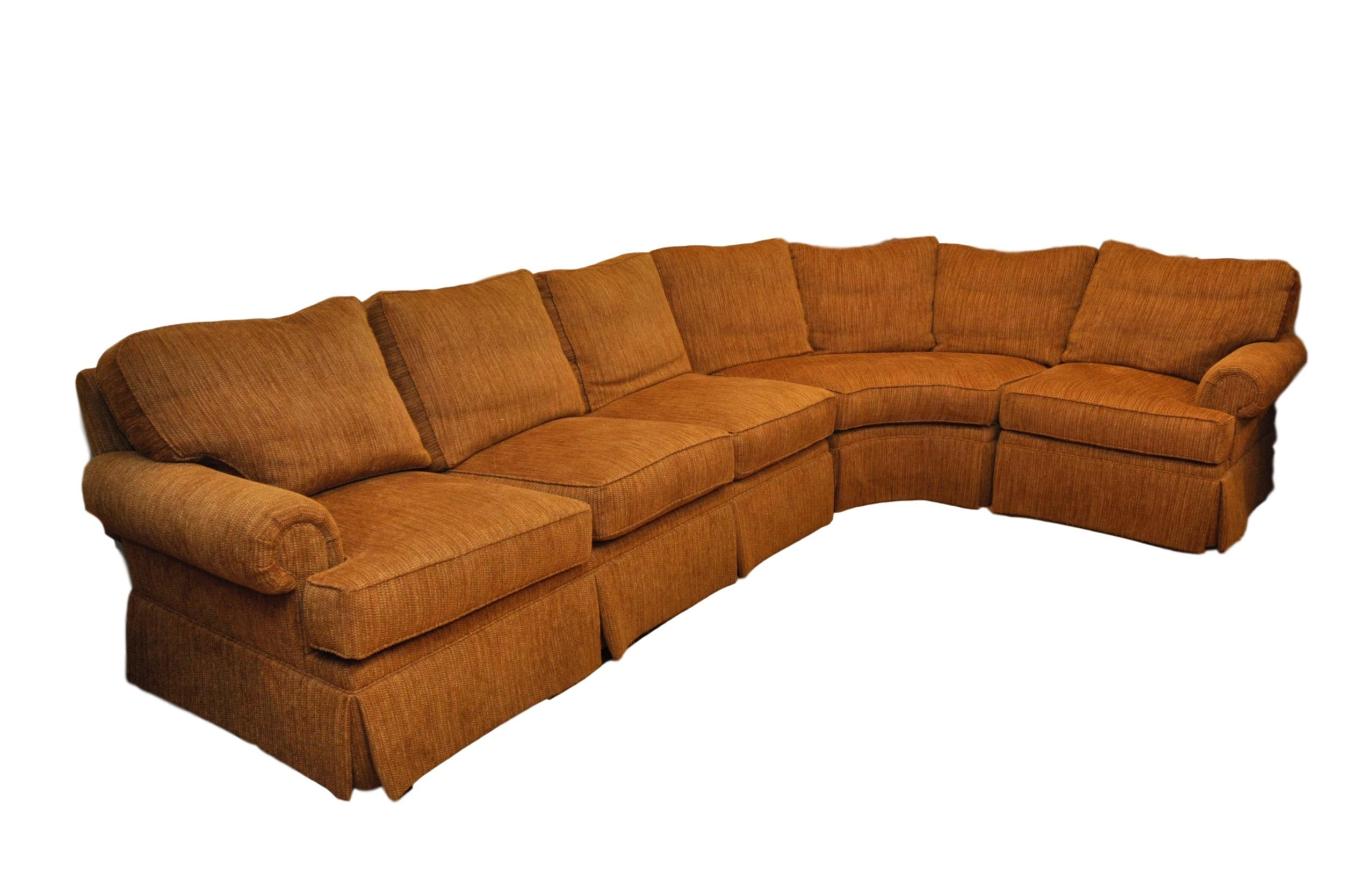 Mao Like New Henredon Lawson Arm Chenille Sofa Sectional