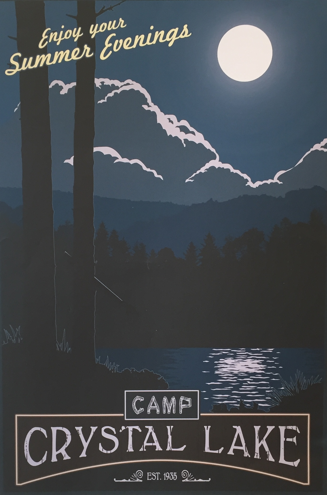 Camp Crystal Lake Poster By Steve Thomas Chairish