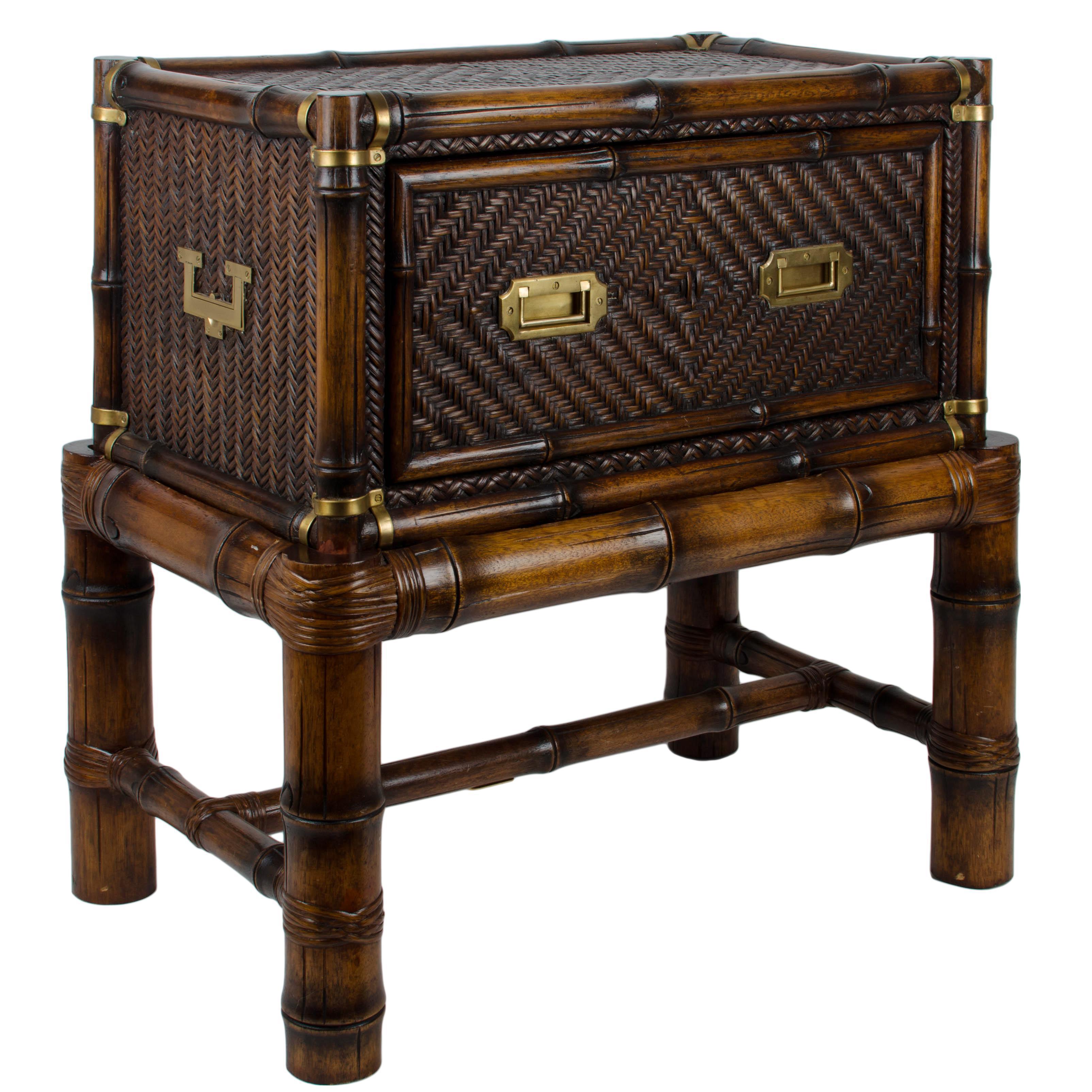 Ralph Lauren British Isles Rattan Chest Table & Stand