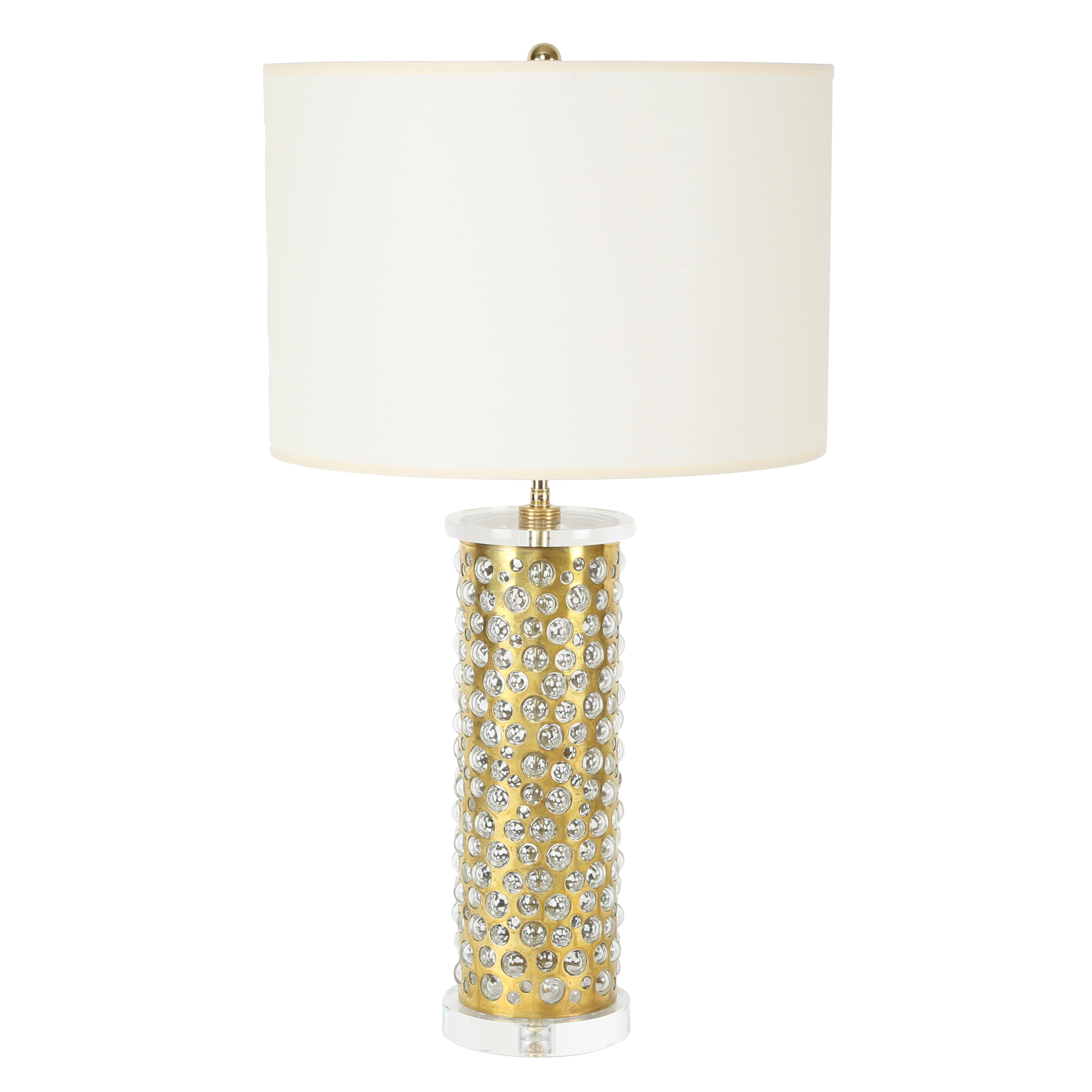 Exquisite brass and glass bubble table lamp by rupert nikoll exquisite brass and glass bubble table lamp by rupert nikoll circa 1950s decaso geotapseo Image collections