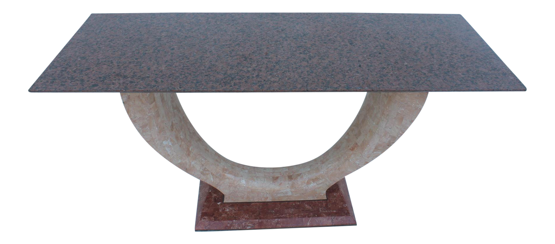 Maitland Smith Tessellate Stone Marble Top Console Table