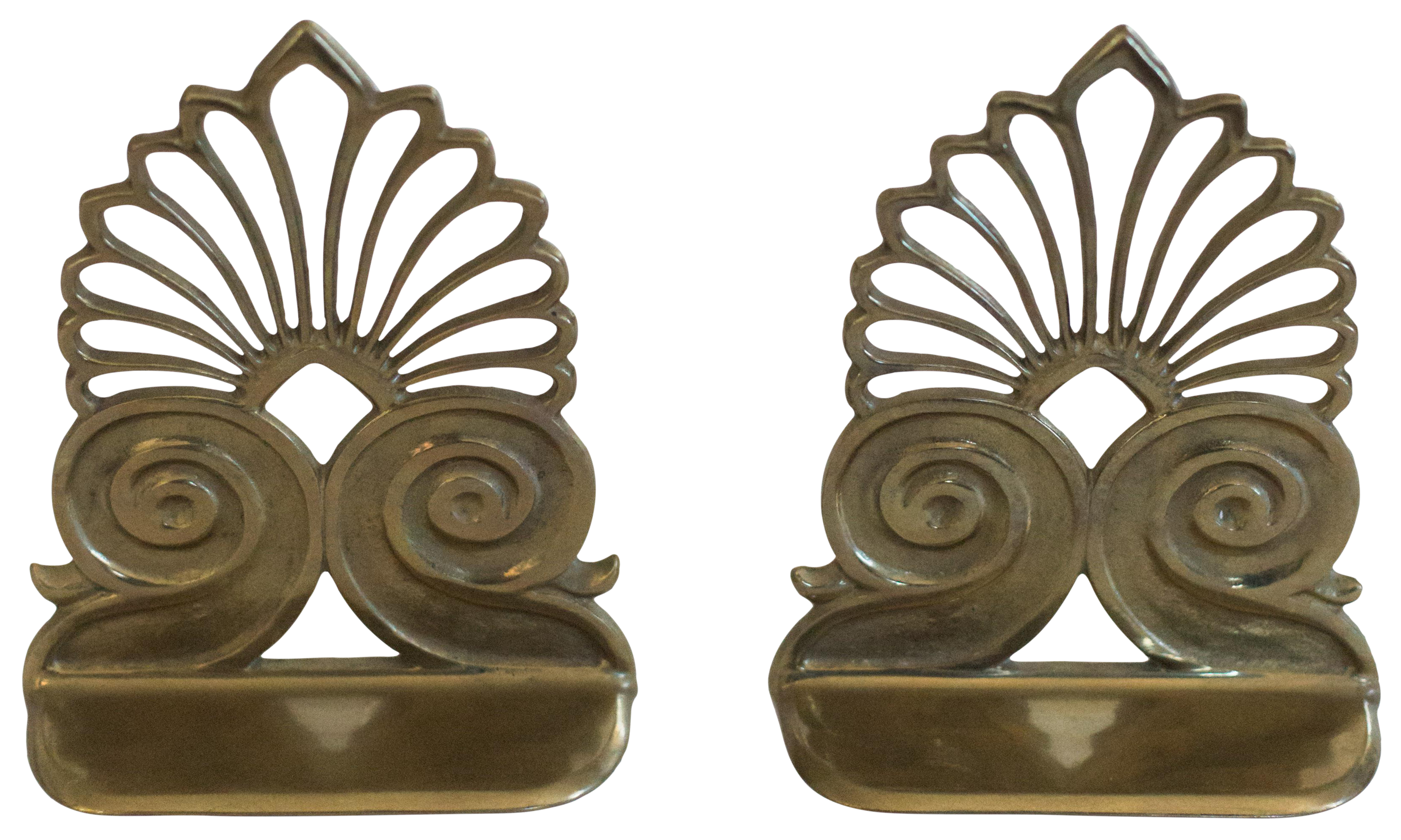 Brass Peacock Bookends A Pair Chairish