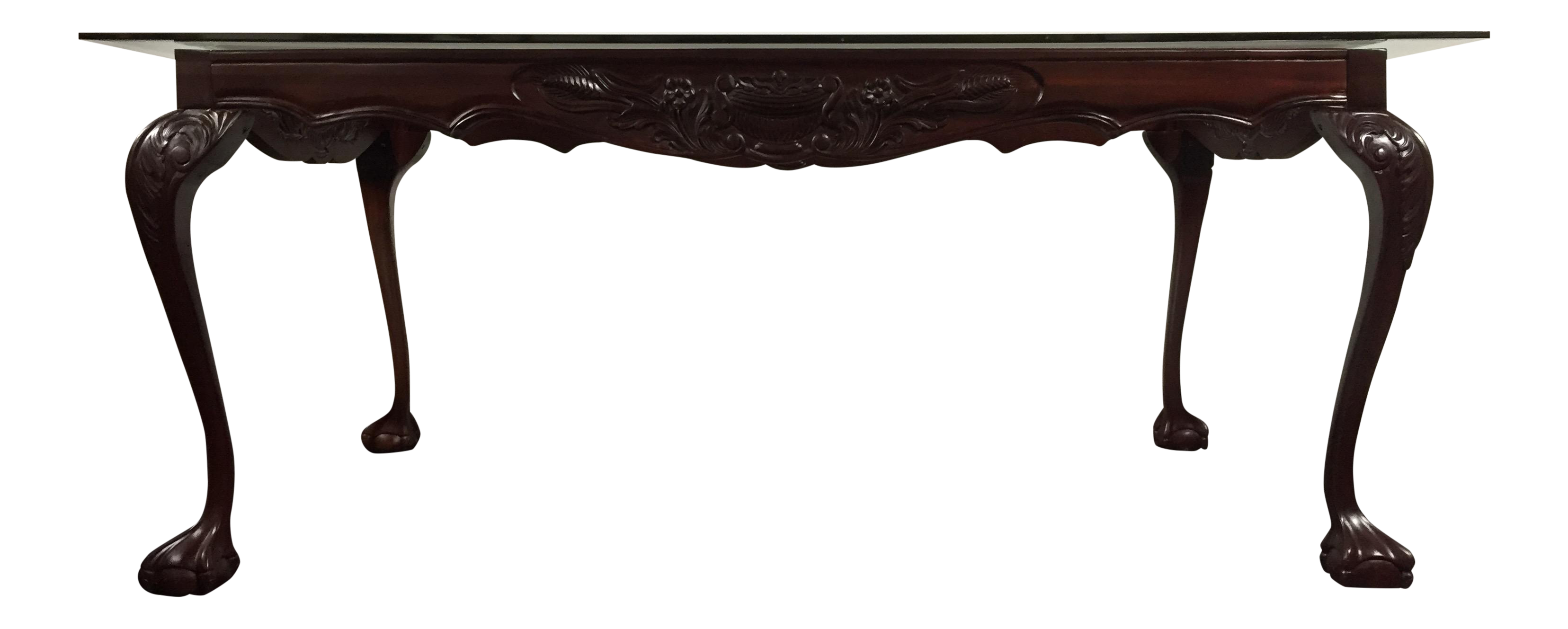 Chippendale Mahogany Dining Table With Glass Top Chairish : 879d9409 7fb1 4b3b bf2e 6b6c27b32d52 from www.chairish.com size 3312 x 1329 png 967kB