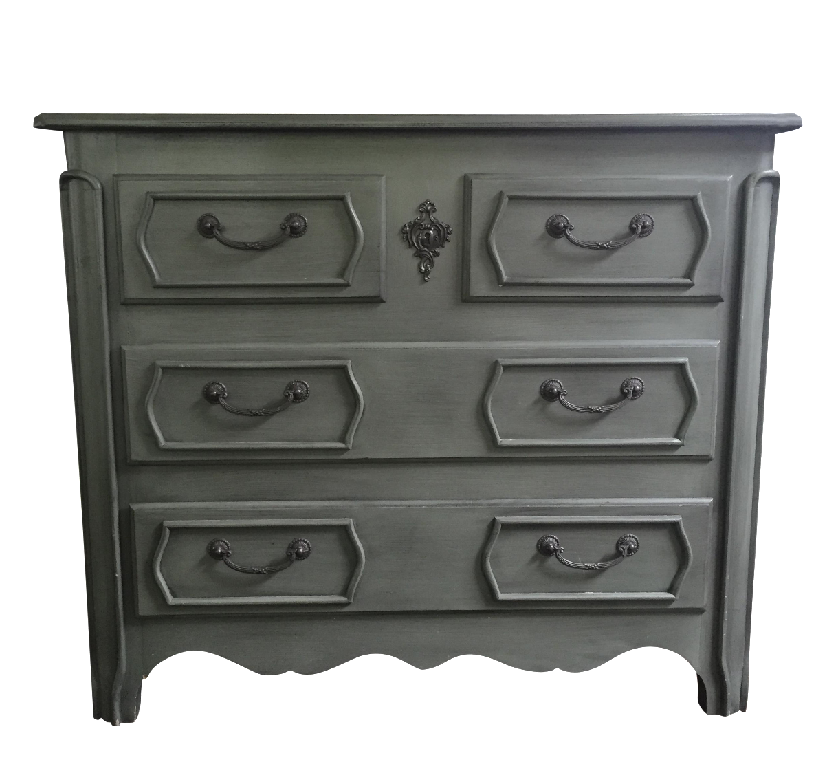 British traditions gray blue chest chairish for British traditions kitchen cabinets