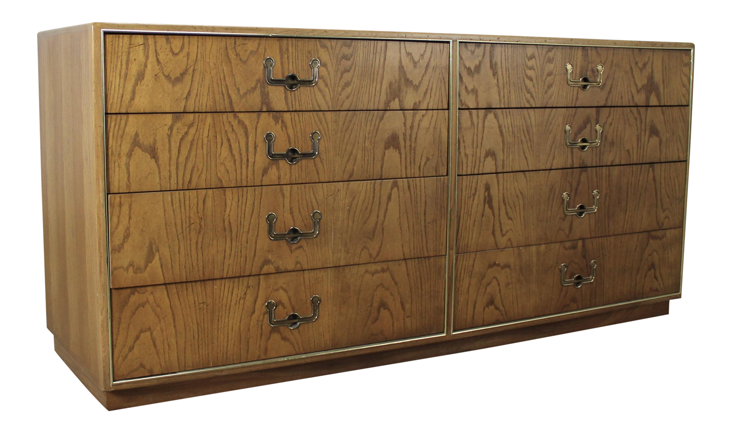 Founders Furniture Vintage Mid Century Campaign Style Dresser