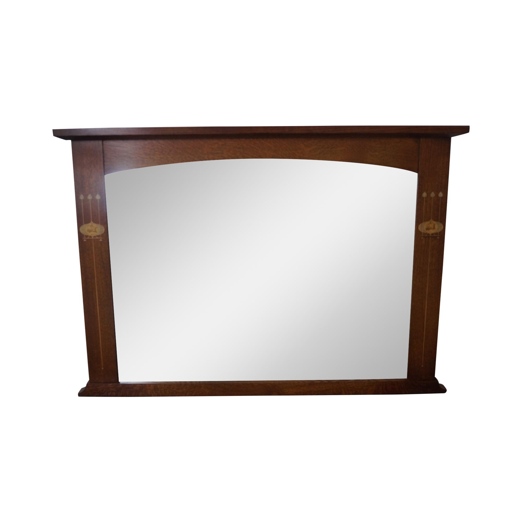 Stickley Harvey Ellis Inlaid Mission Oak Mirror Chairish