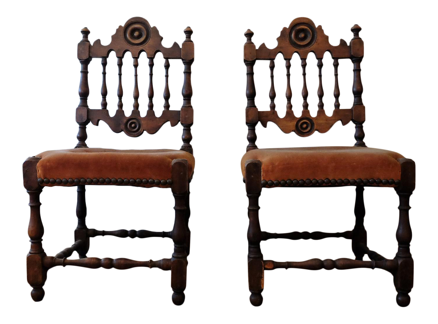 Antique Children's Chairs, Upholstered in Vintage Fabric - a Pair   Chairish - Antique Children's Chairs, Upholstered In Vintage Fabric - A Pair