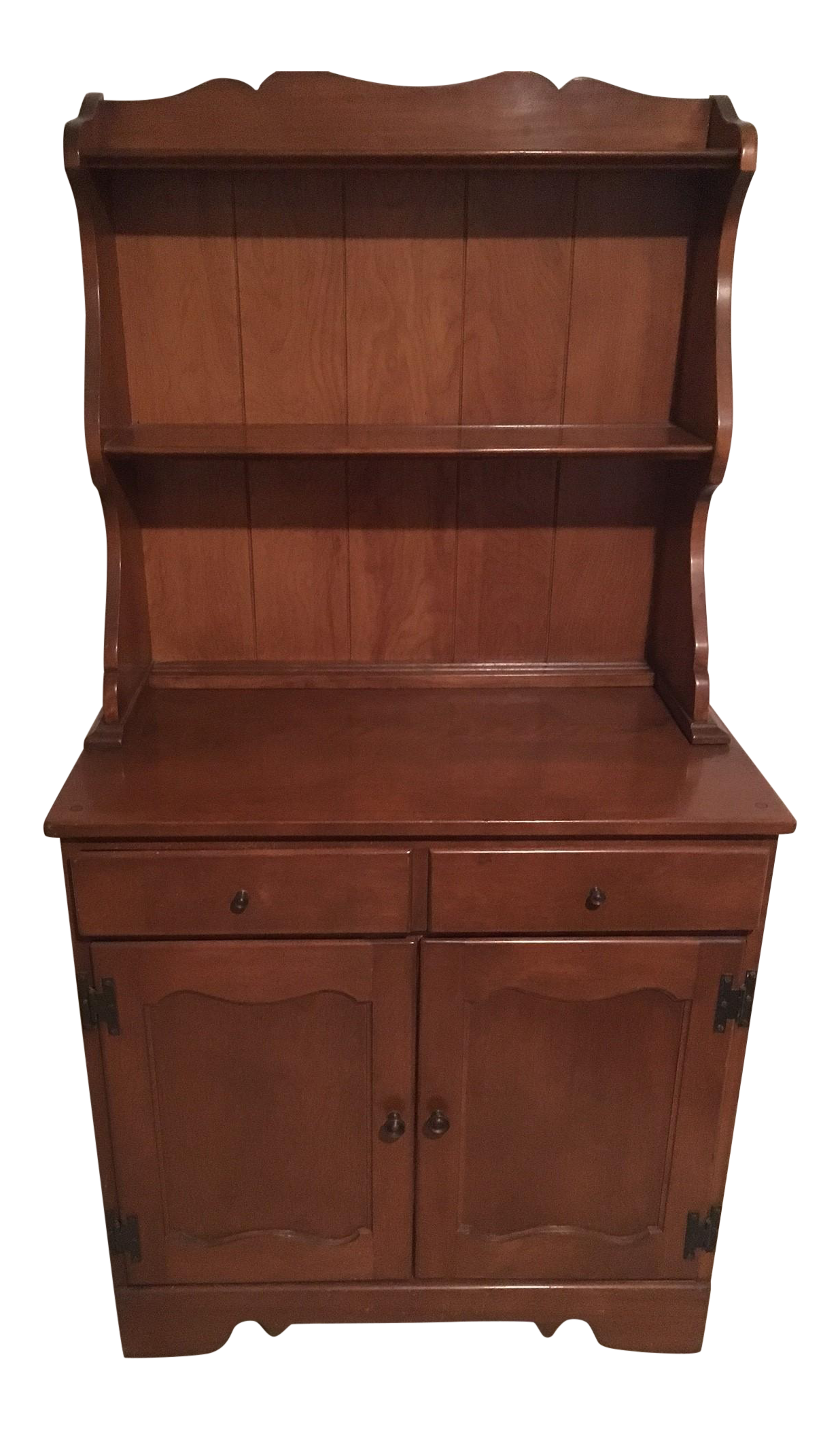 2 Piece Vintage Ethan Allen Baumritter Hutch Chairish
