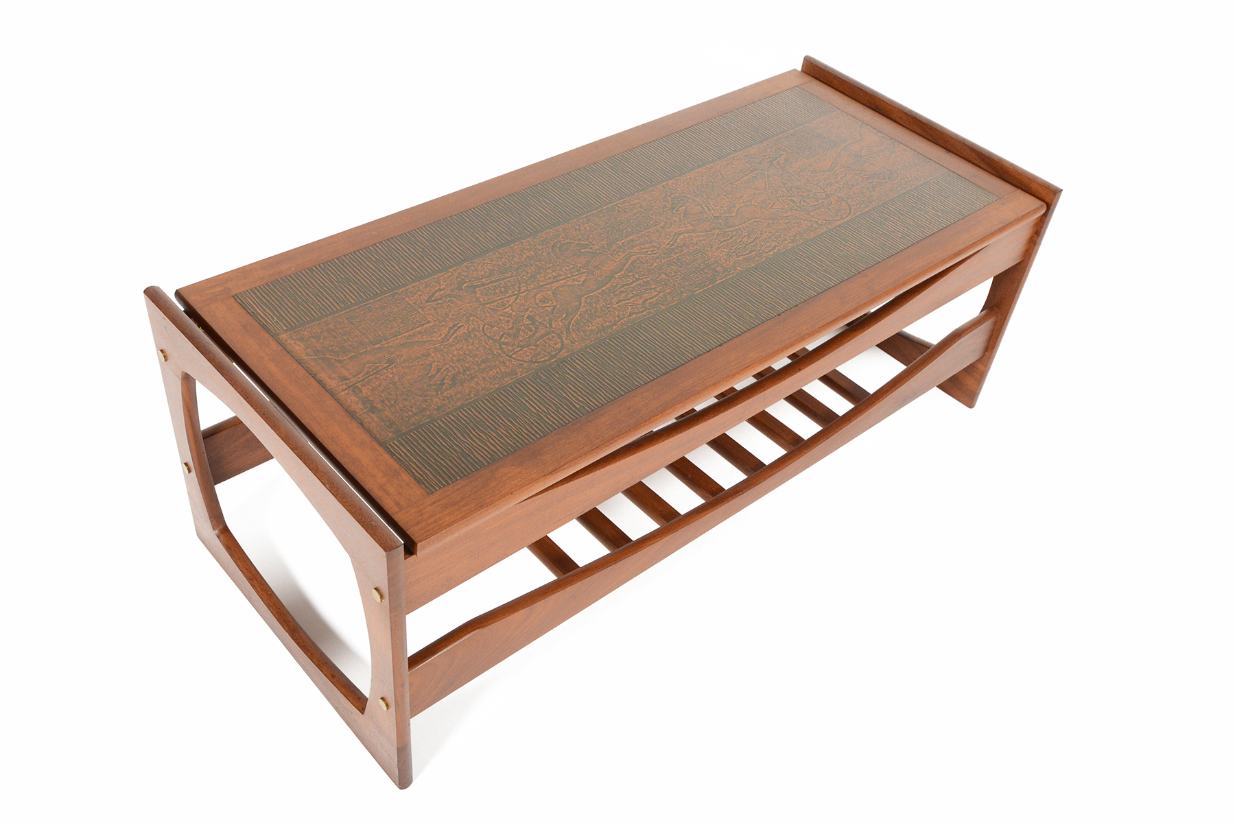 G Plan Copper Egyptian Relief Teak Coffee Table