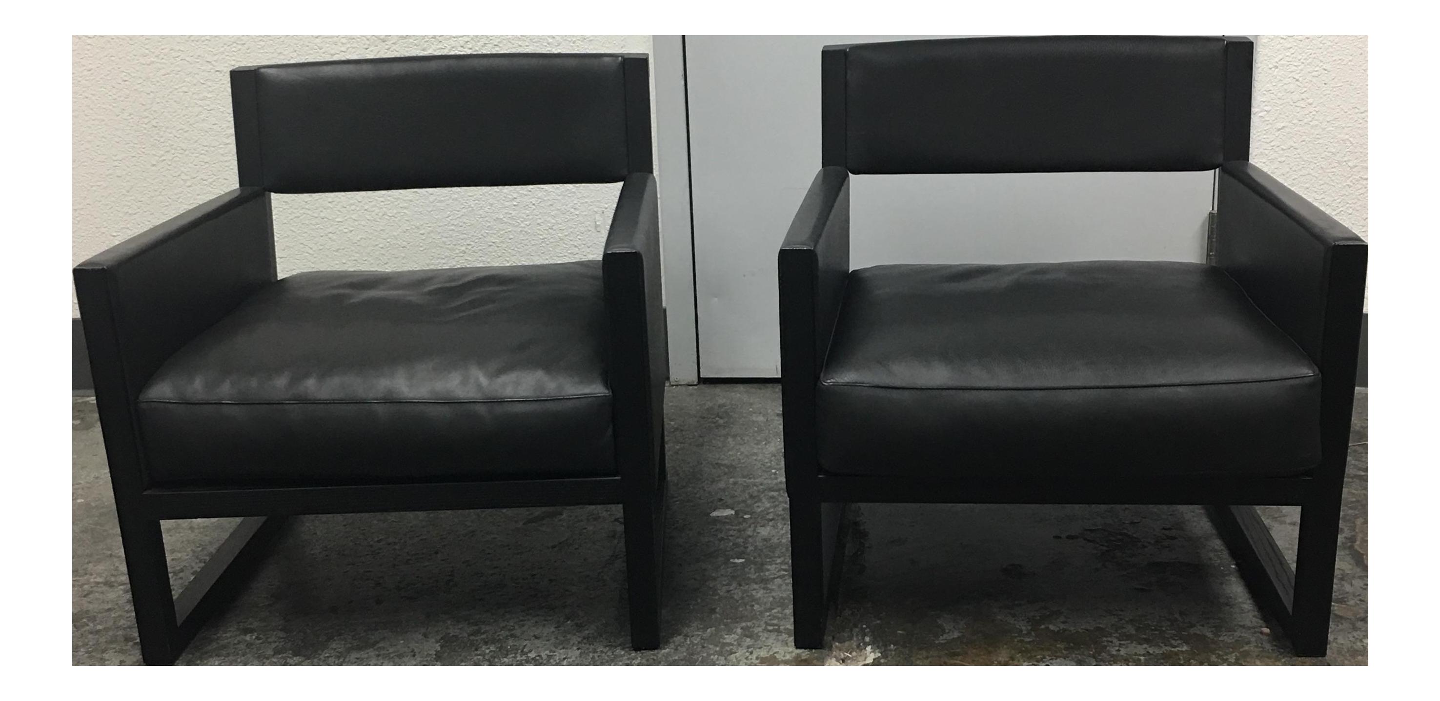 Antonio citterio clio armchairs a pair chairish
