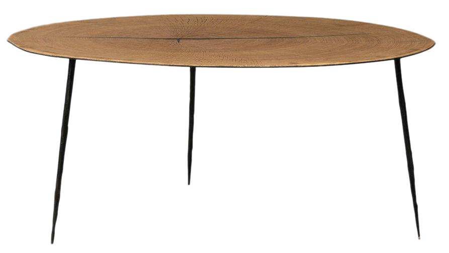 Wood Slice Round Coffee Table Chairish