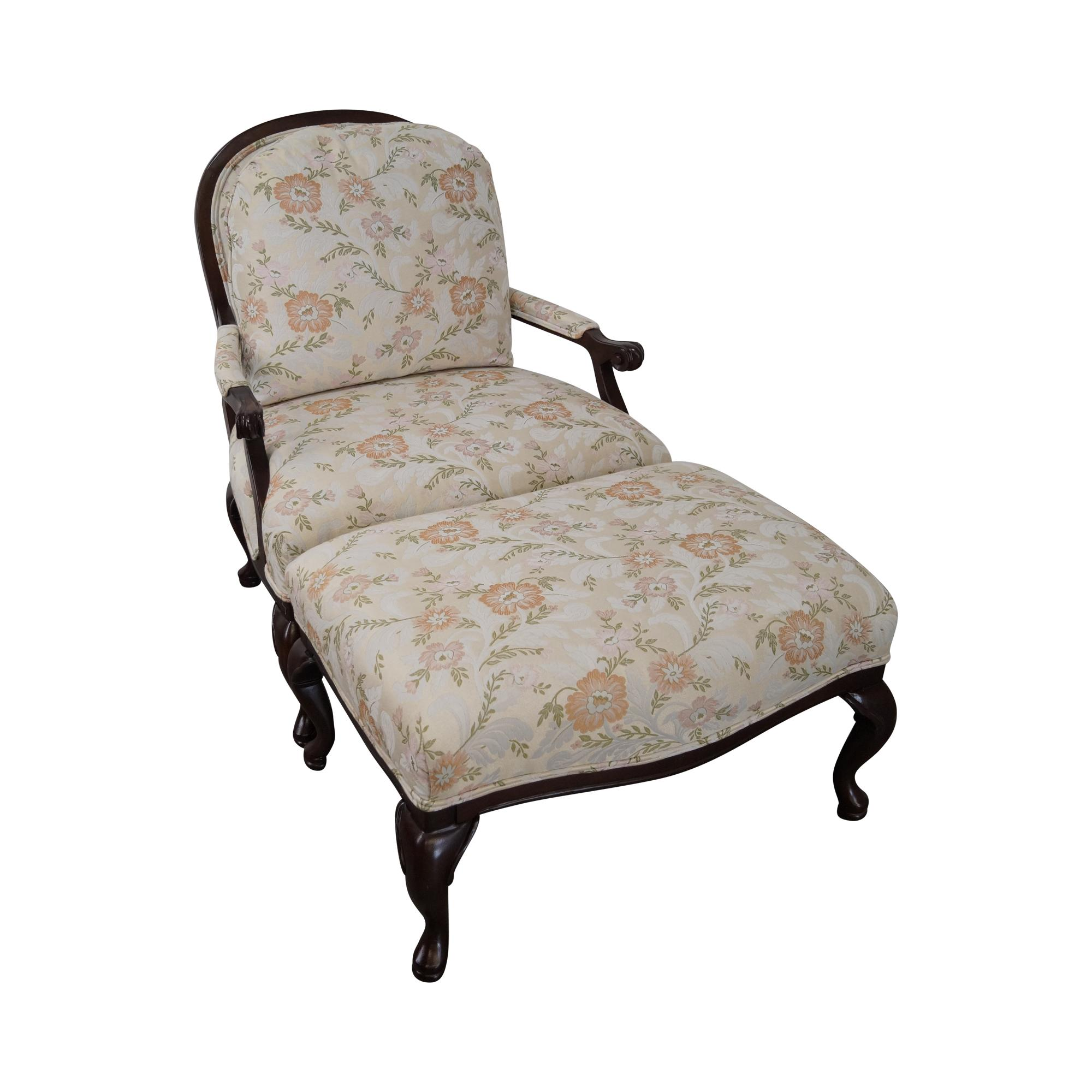 wide lounge chair floral wide seat lounge chair with ottoman chairish 22151 | 8afbaef5 41c5 47d2 bd80 869b609c1142