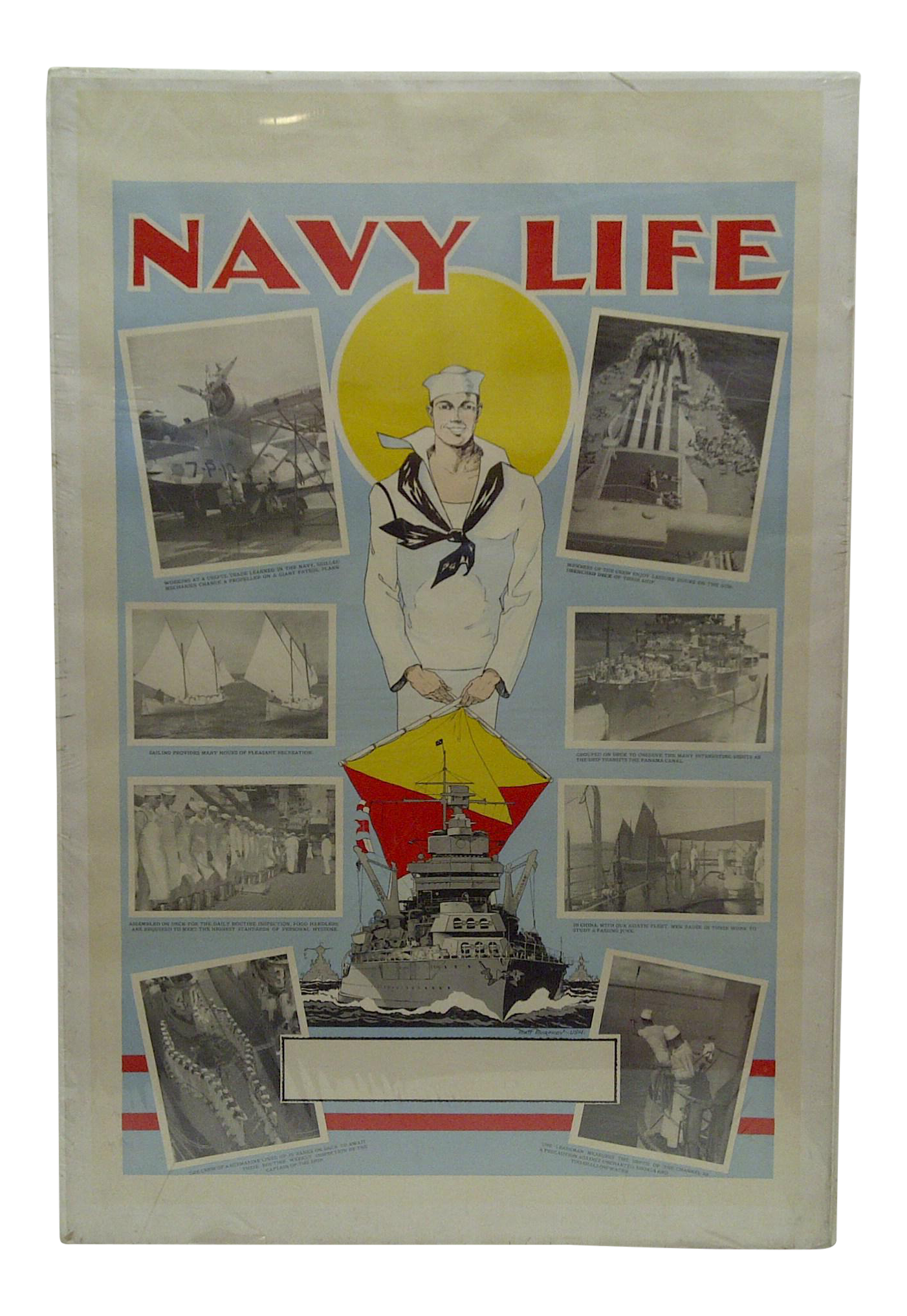 Vintage United States Navy Poster Chairish