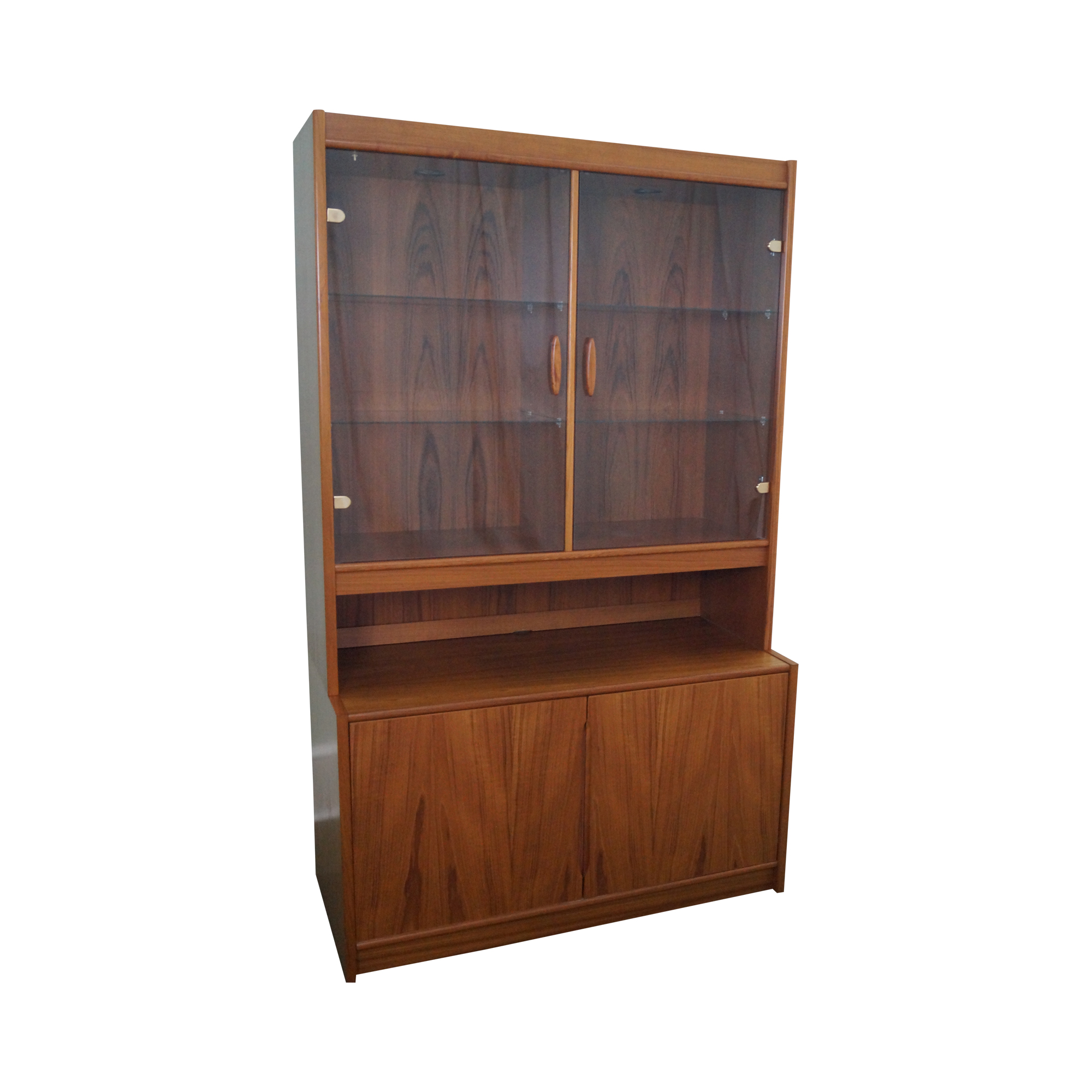 Danish Modern Teak China Cabinet Chairish