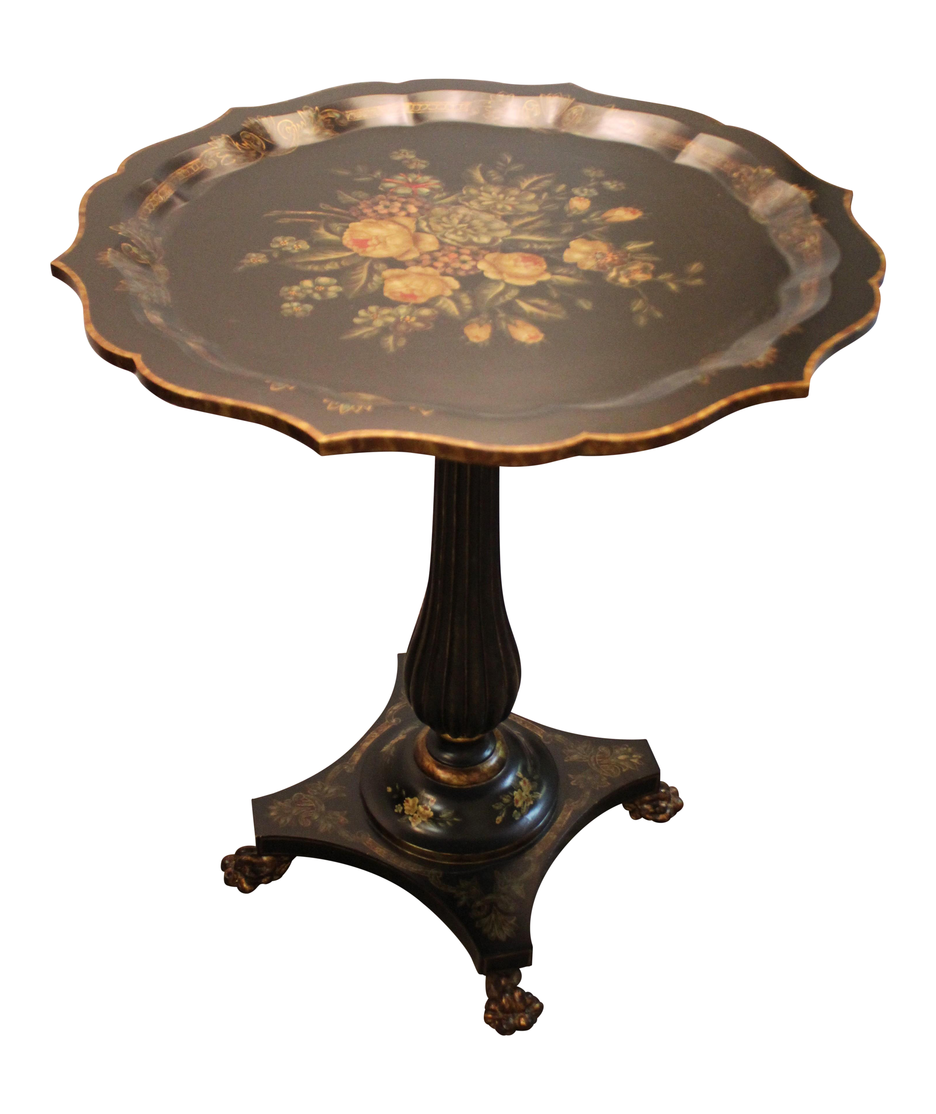 Maitland Smith Floral Cocktail Table Chairish