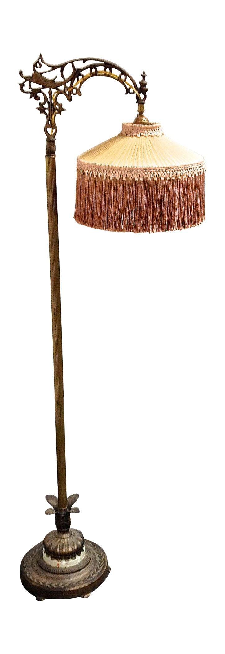 Antique 1930's Bronze Floor Lamp | Chairish